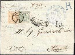 1860 - 80 Cent. Bistro Arancio, 5 Cent. Verde (18,12), Perfetti, Su Fresca Raccomandata In Tariffa D... - Modena