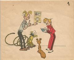 Carte Anniversaire Dépliant Pour Abonné Années 1950 Franquin Spirou Fantasio Spip Marsupilami - Cartes Postales