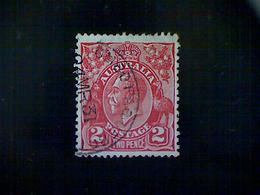 Australia, Scott #71, Used (o), 1923 King George V, 2d, 8th Watermark, Red - 1913-36 George V: Heads
