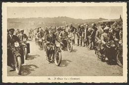 Cartolina Fotografica Con MUSSOLINI Motociclista - Personaggi