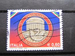 *ITALIA* USATI 2009 - CARABINIERI TUTELA PATRIMONIO - SASSONE 3083 - LUSSO/FIOR DI STAMPA - 6. 1946-.. Repubblica