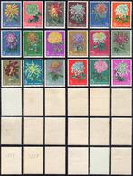 1960/61 - Chrysanthemus, Three Complete Set (M. 570/575,577/588), Original Gum, Quality To Be Examin... - Non Classificati