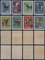1961 - Tang Dinasty Pottery, Complete Set Of 8 (M.608/615), O.g., MNH.... - Non Classificati