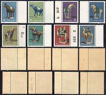 1961 - Tang Dynasty Pottery, Complete Set Of 8 (M.608/615), O.g., MNH. Rare.... - Non Classificati
