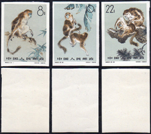 1963 - Monkeys, Complete Imperforated Set Of 3 (M.741/743B), Original Gum, MNH, Perfect Conditions.... - Non Classificati