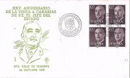 31594. Carta SANTA CRUZ TENERIFE (Canarias) 1975. 25 Años Visita Canarias CAUDILLO - 1971-80 Lettres