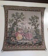 Tapisserie Murale Scène Galante / Musique XVIIIe 120 X 120 Cm - Tapis & Tapisserie
