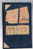 1939 :1945 Porte Feuilles Pour Ranger Tickets De Rationnement  Bon Etat   Pf - Documents Historiques