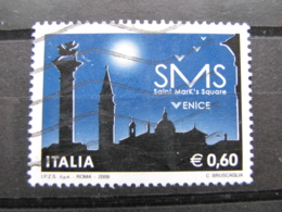 *ITALIA* USATI 2009 - PROGETTO SMS VENICE - SASSONE 3081 - LUSSO/FIOR DI STAMPA - 6. 1946-.. Repubblica