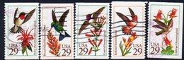 USA 1992 Hummingbirds Set Of 5, Used, SG 2672/6 - Usati