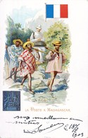 LA POSTE A MADAGASCAR FACTEUR POSTIER STAMP POST OFFICE FACTOR 1900 - Madagascar