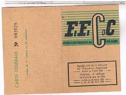 CARTE CLUB  CINEMA CARCASSONNE  1955 1956 - Documents Historiques