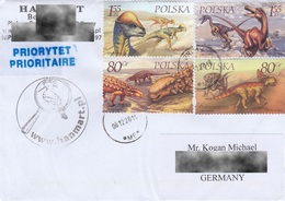 Poland 2000:   Prehistoric Animal, Dinosaurs, Circulated Letter - Preistorici
