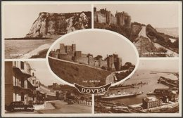 Multiview, Dover, Kent, C.1940s - Valentine's RP Postcard - Dover