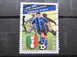 *ITALIA* USATI 2009 - SCUDETTO INTER - SASSONE 3098 - LUSSO/FIOR DI STAMPA - 6. 1946-.. Repubblica