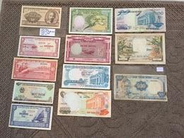 VIET- NAM: Belle Collection De 12 Billets De Banque. Dates: 1951/1988 - Indochine