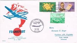 31603. Carta First Flight ANKARA (Turquia) 1968 A Frankfurt. Boeing 727 Lufthansa - 1921-... República
