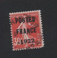 Faux Préoblitéré N° 38 30 C Semeuse Poste France 1922 2eme Choix - 1893-1947