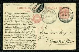 POSTA MILITARE -POSTA MILITARE  1^ DIVISIONE CAVALLERIA - 5 PUNTI- INTERO POSTALE C36/14- PER QUINTO AL MARE - 1900-44 Vittorio Emanuele III