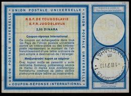 SLOVENIA / SLOVENIE / YUGOSLAVIA Type XIX 2,50 DINARA Int. Reply Coupon Reponse Antwortschein IAS IRC O LJUBLJANA 1.3.71 - Slowenien