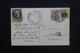 ALLEMAGNE - Affranchissement Militaire Russie/ Allemand Sur Carte Postale En 1915 Sur Carte Postale Pour Metz - L 23919 - Cartas