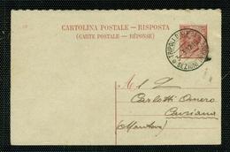 INTERI POSTALI-CARTOLINA POSTALE N. 37 - DA TRIPOLI D'AFRICA PER CAVRIANA - 1900-44 Vittorio Emanuele III