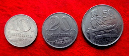LATVIA , LETTLAND , LETTONIA 10,20,50 SANTIMU 1922 COIN SET - Latvia