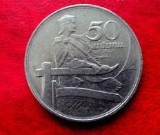 LATVIA , LETTLAND , LETTONIA 50 SANTIMU 1922 COIN - KM#6 - Lettonie