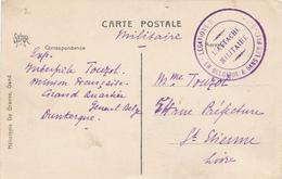 590/28 - Carte-Vue WESTENDE - Signée Touzot , Mission Française Au Quartier Général Belge à DUNKERQUE - Marcofilie (Brieven)
