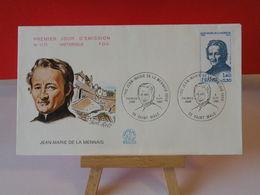 Jean Marie De La Mennais - 35 Saint Malo - 6.9.1980 FDC 1er Jour N°1173 - Coté 2€ - FDC