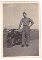 MOTO - MOTORCYCLE  - NON IDENTIFICATA - MILITARE  -  FOTO ORIGINALE - Automobiles