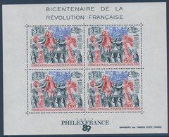 TAAF 1989   Bloc N°1 Bicentenaire De La Révolution Française  ** MNH - Blocchi & Foglietti