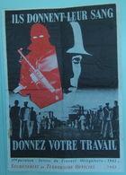 S.T.O. Ils Donnent Leur Sang - Affiche Détournée PROPAGANDE Lutte Armée Extrême Gauche Année 1982 - RARE - Affiches
