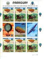 Paraguay 1984-Zeppelins,MI 3698/704+feuillet***MNH - Zeppelin