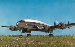 Avion Quadrimoteur Lockheed Constellation Air Algérie (2 Scans) - 1946-....: Ere Moderne