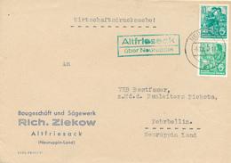 ALTFRIESACK über Neuruppin  - 1958 , Nach Fehrbellin - DDR
