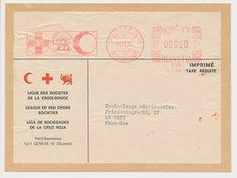 Address Label Switzerland 1970 League Of Red Cross Societies - Croix-Rouge