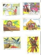 Image Bon Point Olivier Lot De 6 : Boulangère, On Bat Le Blé, La Cigale Et La Fourmi, Escargot, Faucon, La Tortue....... - Chromos