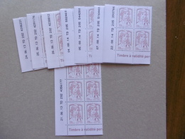 FRANCE 2013  P4771  POUR LETTRE DE 50 GRS BLOCS DE 4 COIN DATE ET UN BLOC DE 6 TOTAL 8 BLOCS SOIT 34 TIMBRES - Hoekdatums