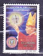 ECUADOR 2003 PAPAL BENEDICTION FOR ECUADORIAN EMIGRANTS $ 1.05 MNH SC# 1657 - Ecuador
