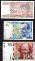 France Lot De 3 Billets 1997 - 1992-2000 Dernière Gamme