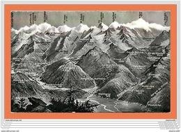 A245/183 Suisse - Type Carte Géographique - Martigny - Grand St Bernard - Zonder Classificatie