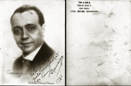 OPERA ACTOR Unidentified CAMARGO Autograph Hand Signed Dedicacee 1930 - Original Vintage Photo By Studio Manuel Freres - Foto Dedicate