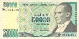 50.000 Türk Lira Banknote Türkei 1970 - Türkei
