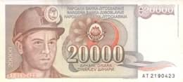 20.000 Dinar Banknote Jugoslawien 19?? - Jugoslawien