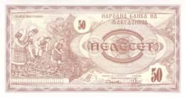 50 Dinar Banknote Mazedonien 1992 - Macedonia