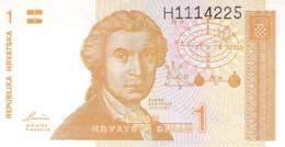 1 Dinar Banknote Republika Hrvatska (Kroatien) 1991 - Croatie
