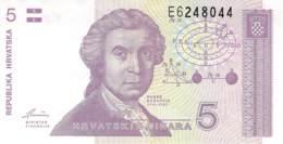 5 Dinar Banknote Republika Hrvatska (Kroatien) 1991 - Croatia