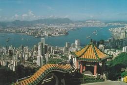 CARTOLINA - HONG KONG - AND KOWLOON FROM THE PEAK - Cina (Hong Kong)