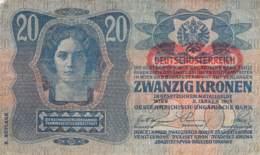 20 Kronen Banknote Deutsch-Österreich 1913 - Oesterreich